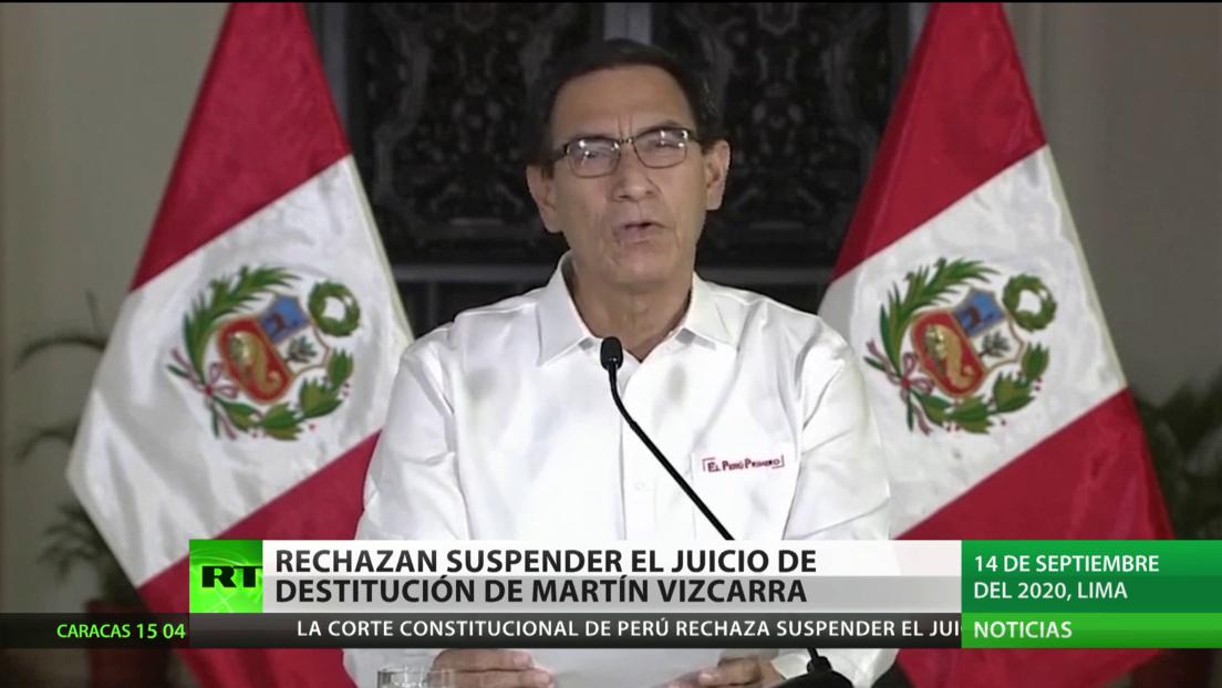 Rechazan suspender el juicio de destitución de Martín Vizcarra