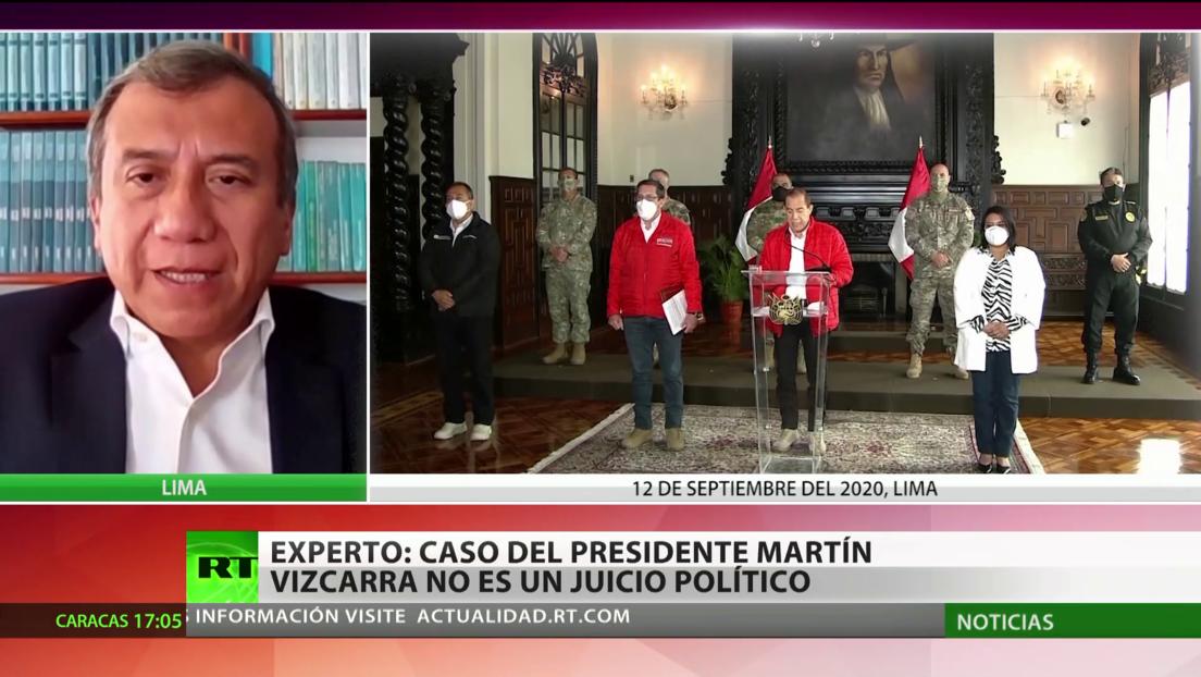 Experto: El caso del presidente peruano Martín Vizcarra no es un juicio político