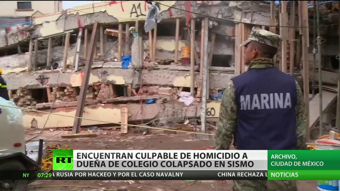 México: Encuentran culpable de homicidio a la dueña de un colegio que colapsó durante un sismo