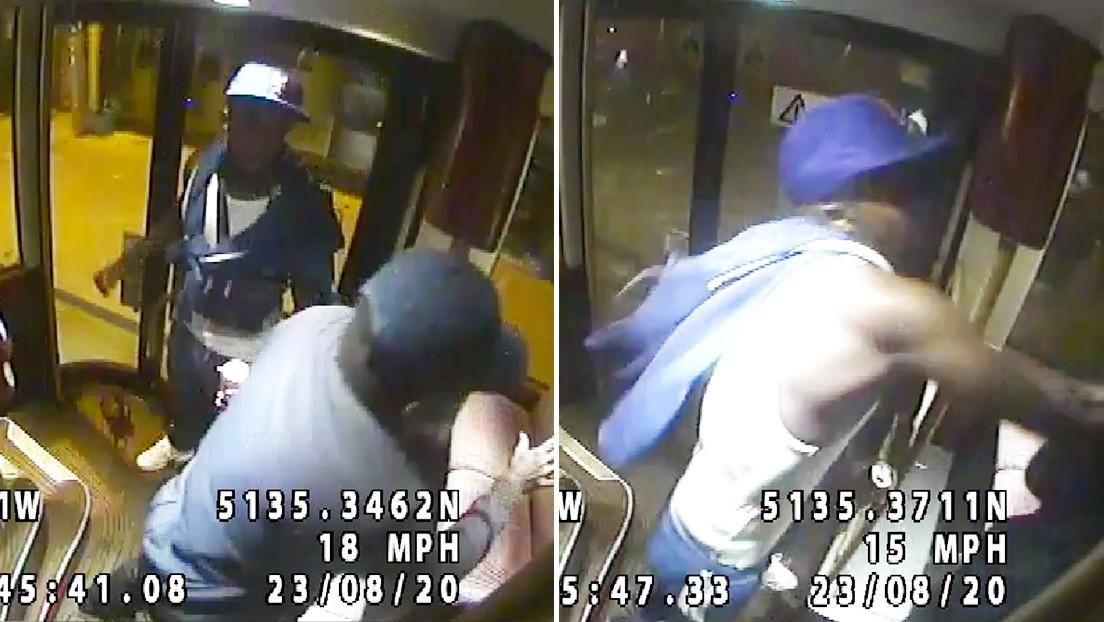 VIDEO: Un hombre mayor se aparta de un pasajero sin barbijo y recibe una salvaje paliza con pisadas en la cabeza