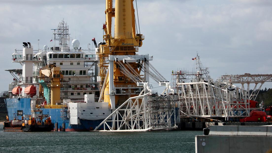 """En Alemania califican de """"atroces"""" las amenazas de EE.UU. contra un puerto germano usado en la construcción del Nord Stream 2"""