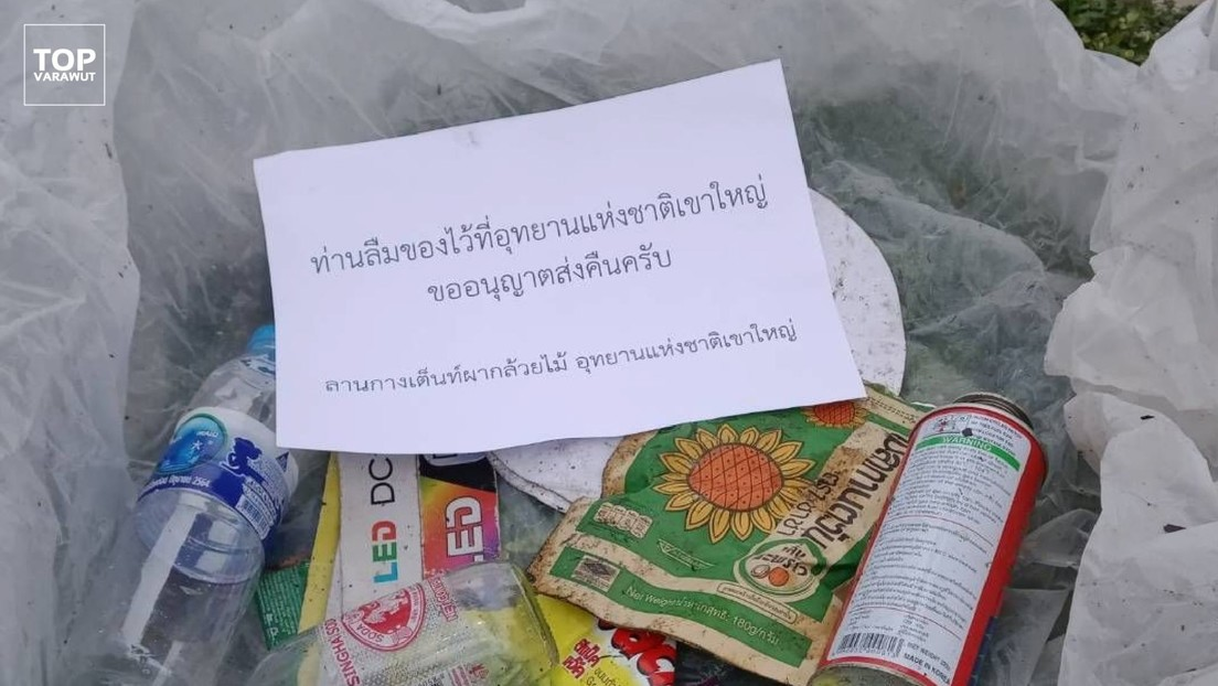 """""""Les devolvemos sus artículos olvidados"""": un parque nacional en Tailandia envía por correo la basura dejada por sus visitantes"""