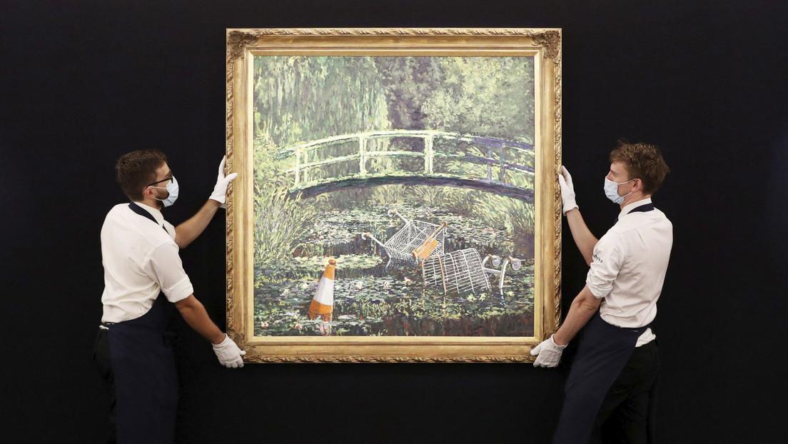 Sotheby's calcula en hasta 6,5 millones de dólares el precio de una obra de Banksy a la que califica como 'versión disidente' de Monet