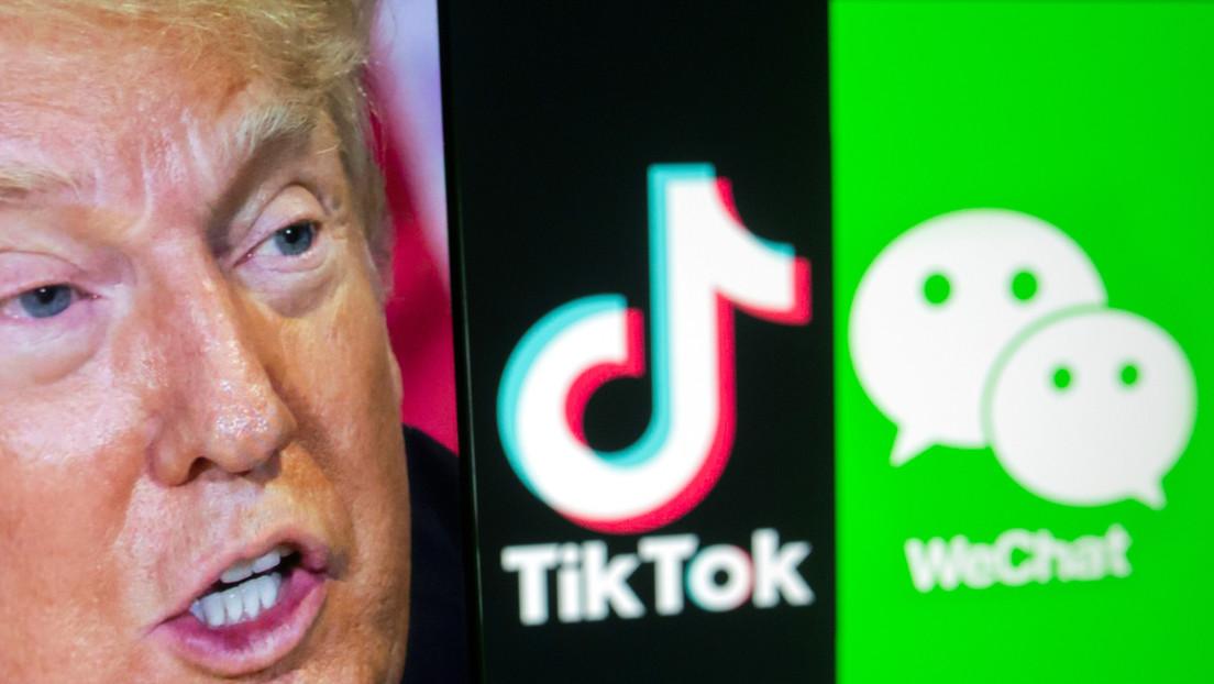 """China acusa a EE.UU. de """"intimidación"""" por bloquear TikTok y WeChat"""