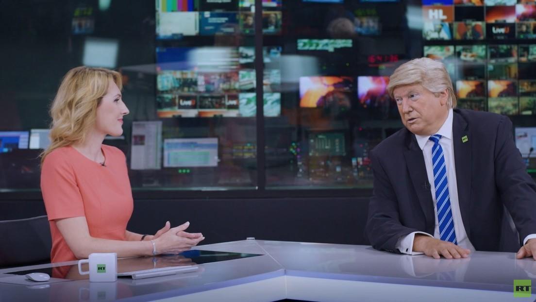 VIDEO: RT le 'ofrece' trabajo a Donald Trump (bueno, casi)