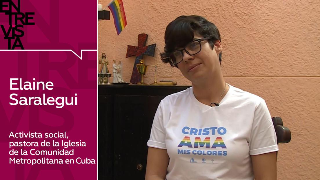 """Elaine Saralegui, activista social y pastora religiosa en Cuba: """"Se usan 'textos-garrote' de la Biblia para condenar a los LGBTI y a las mujeres"""""""