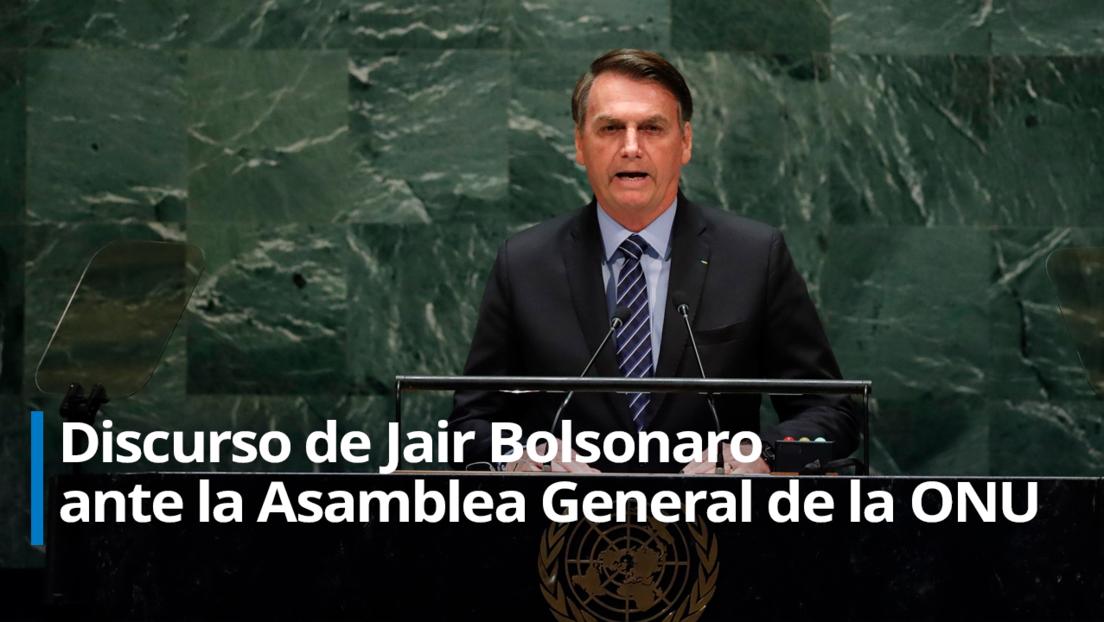 """Bolsonaro defiende ante la ONU su polémica gestión de la pandemia y carga contra la """"brutal campaña de desinformación"""" sobre la Amazonia (VIDEO)"""