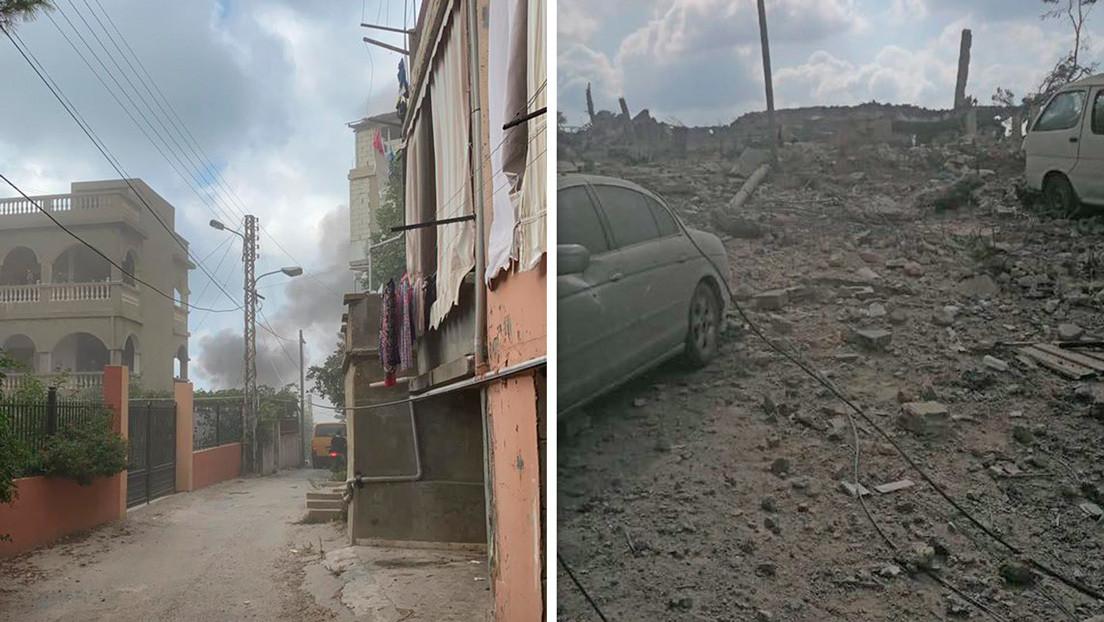 Una explosión sacude Ain Qana, en el sur del Líbano (VIDEOS, FOTOS)