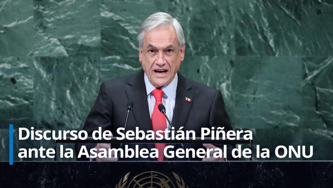 """Piñera justifica ante la ONU las protestas en su contra: """"Hubo una serie de estallidos sociales, Chile no fue la excepción"""" (VIDEO)"""
