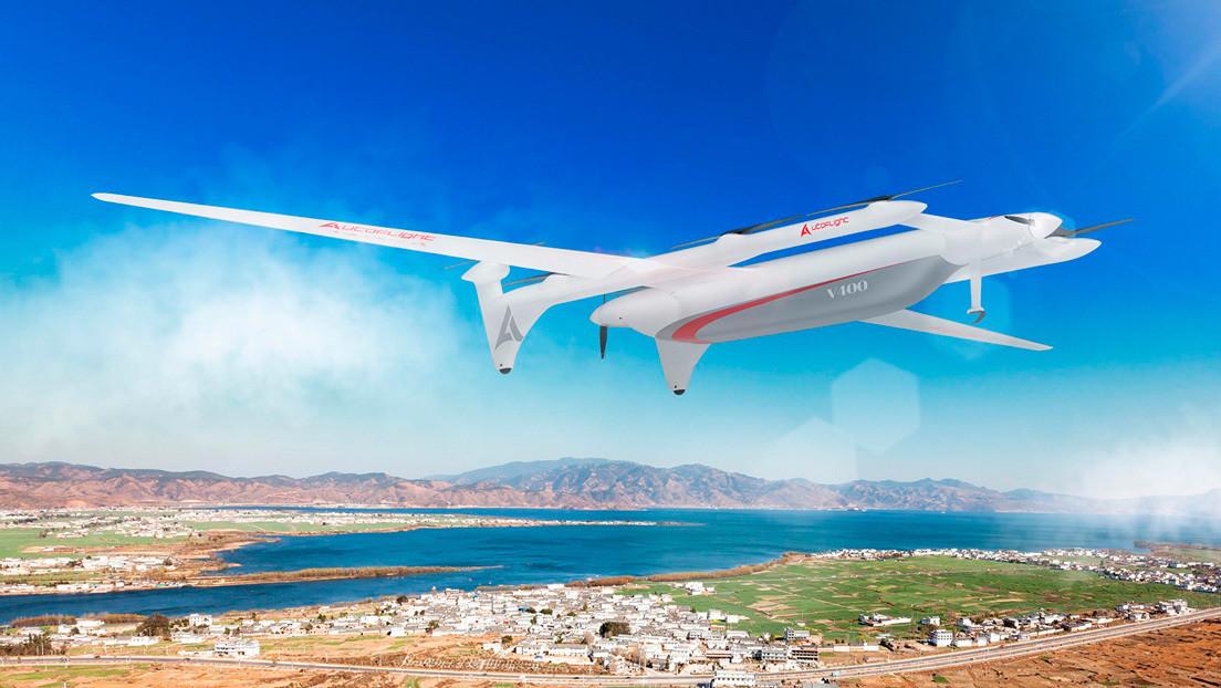 Empresa china presenta un dron de carga híbrido y otro totalmente eléctrico, capaces de transportar cargas de hasta 100 kilogramos