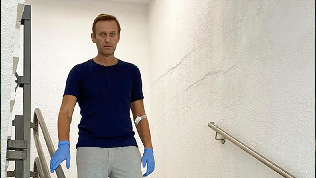 Alexéi Navalny es dado de alta de la atención hospitalaria aguda al mejorar su estado