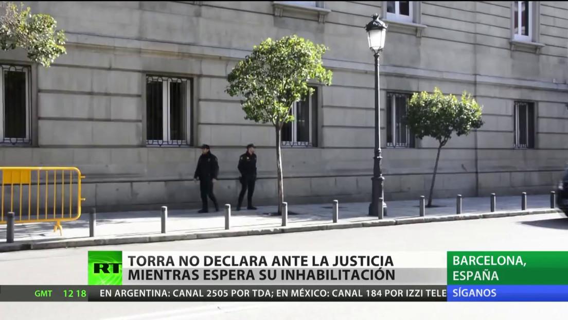 El presidente de Cataluña no declara ante la Justicia mientras aguarda su inhabilitación