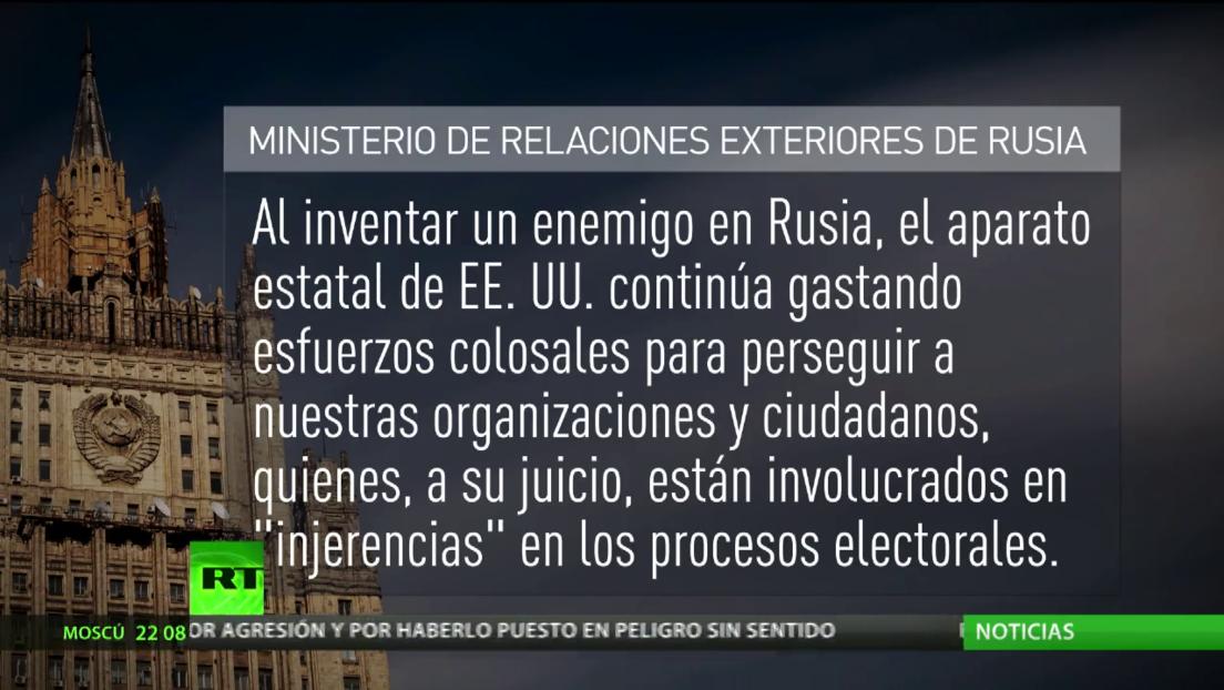 Moscú rechaza las acusaciones de injerencia en los procesos electorales de EE.UU.