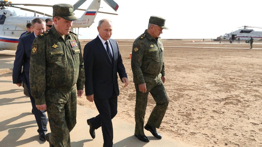 VIDEO: Putin visita las maniobras militares Kavkaz-2020
