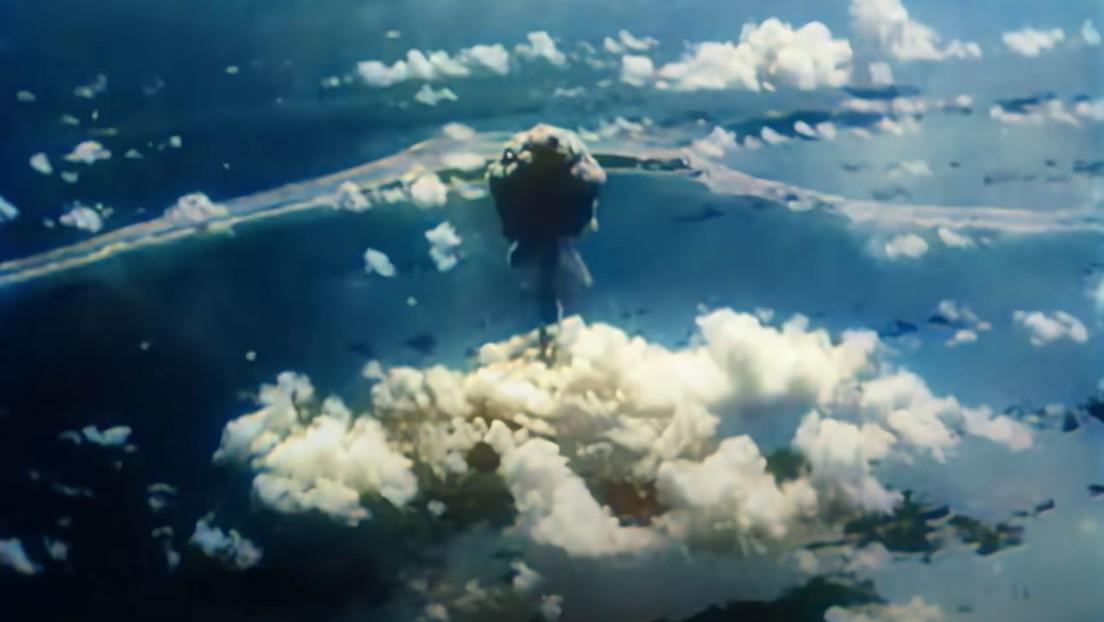 VIDEO: Restauran a color imágenes de las pruebas nucleares en el atolón Bikini durante la Segunda Guerra Mundial