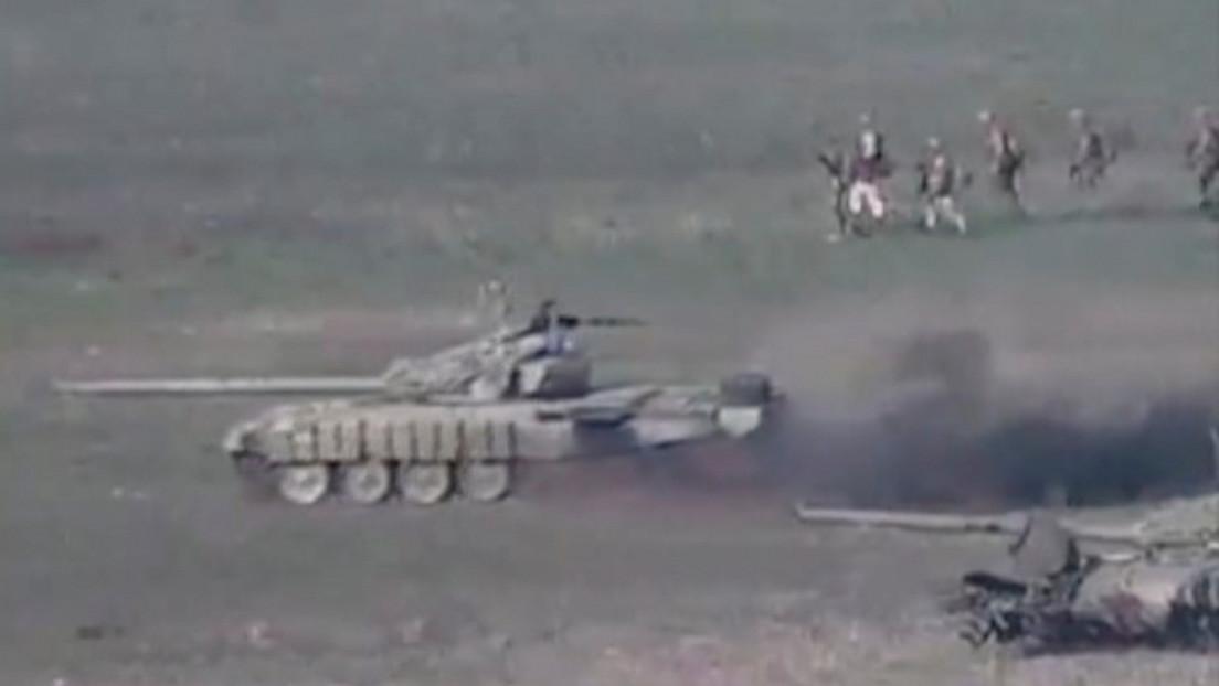 Azerbaiyán anuncia que Armenia tuvo 550 bajas y perdió más de 60 unidades de técnica militar en la primera jornada del conflicto