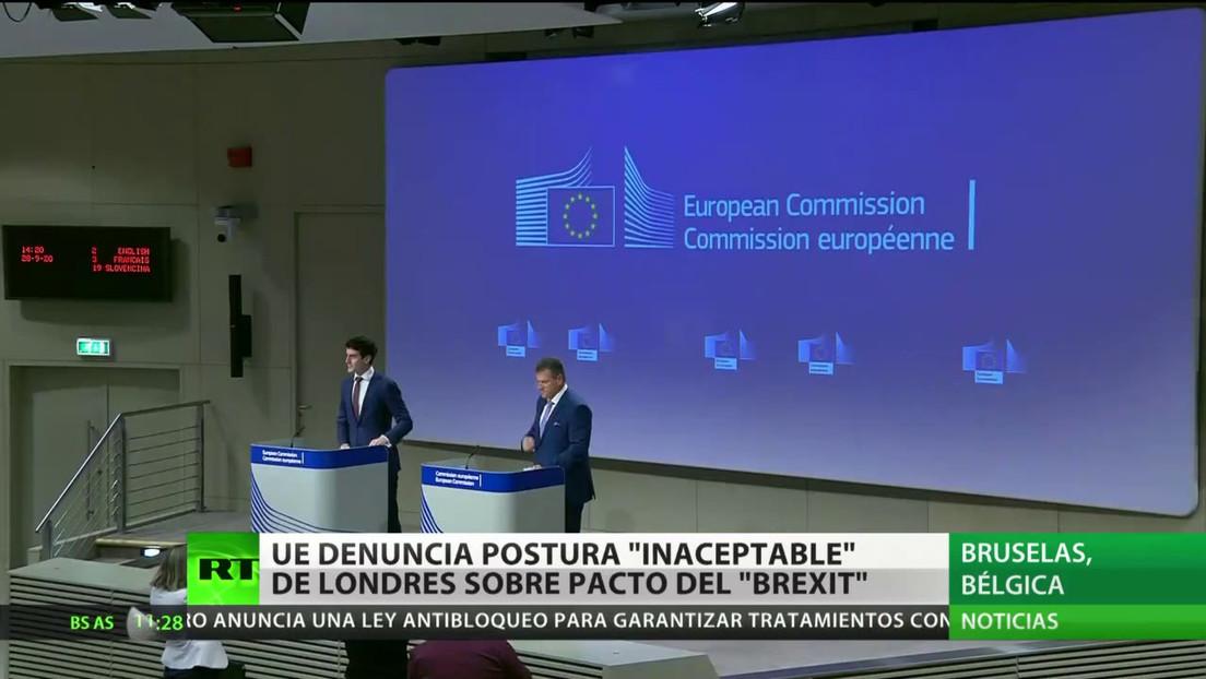 """La UE califica de """"inaceptable"""" la postura de Londres  sobre el acuerdo del Brexit"""