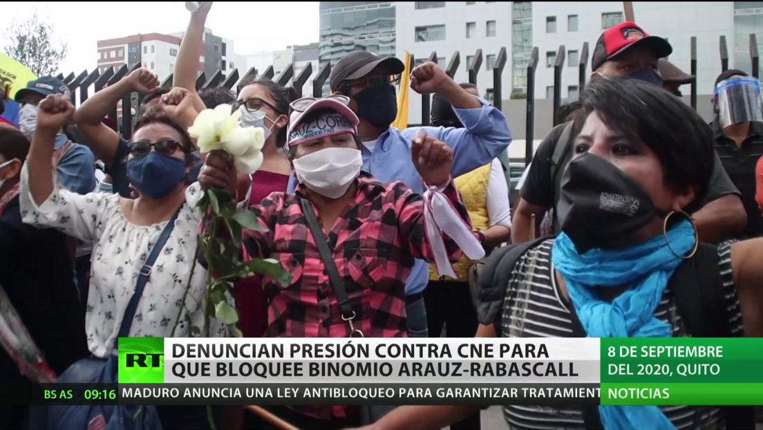 Ecuador: Denuncian presiones contra el Consejo Electoral para que bloquee el binomio Aráuz-Rabascall
