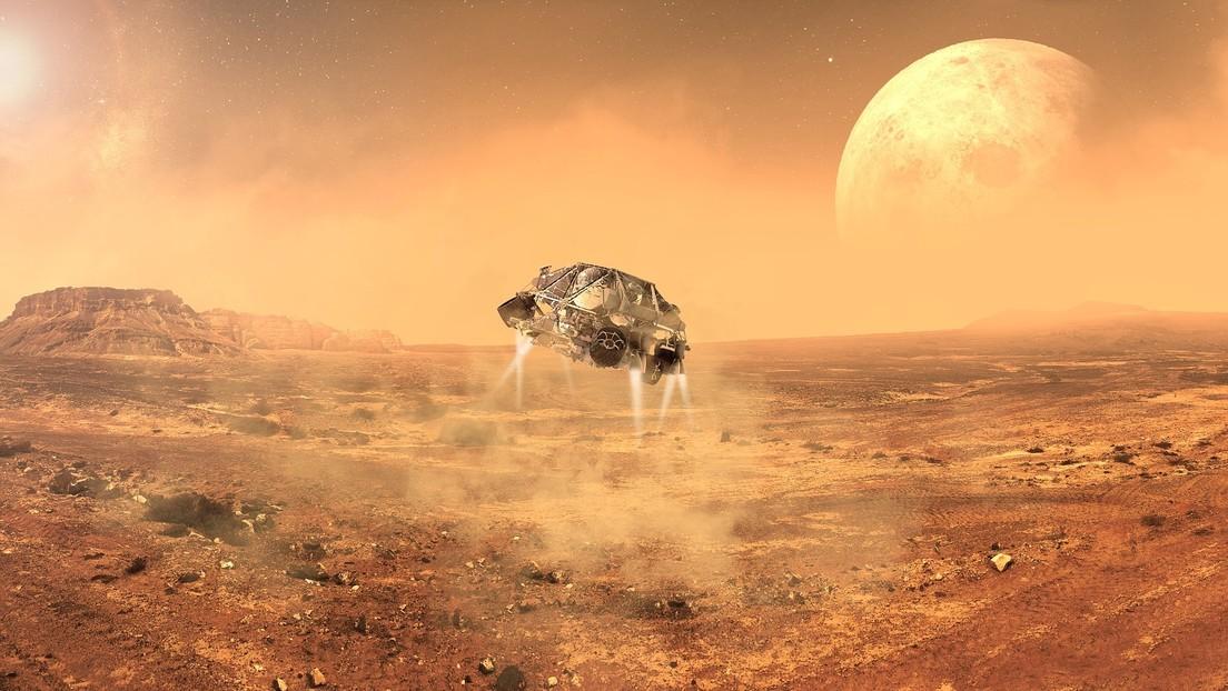 Un radar descubre varios lagos de agua salada en el polo sur de Marte