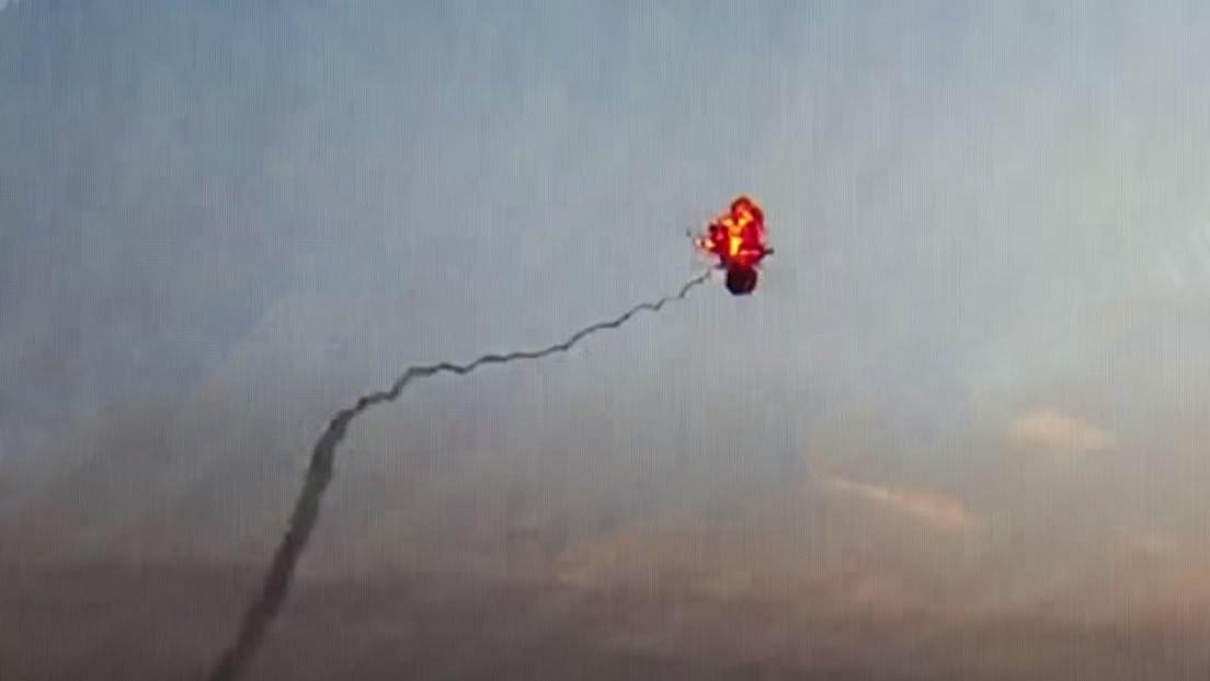 Publican el video del derribo de un helicóptero azerbaiyano en Nagorno Karabaj