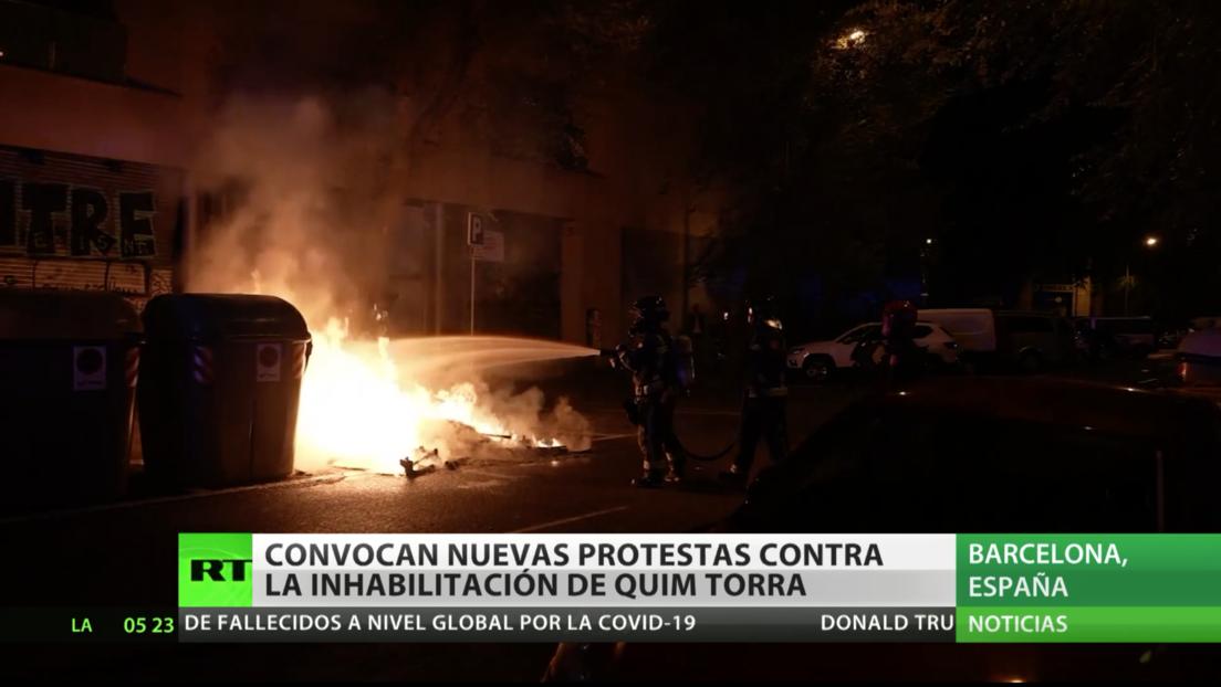 Convocan nuevas protestas en Cataluña tras la inhabilitación de Quim Torra