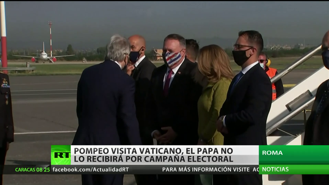 Pompeo visita el Vaticano sin recibimiento por parte del Papa debido a la campaña electoral