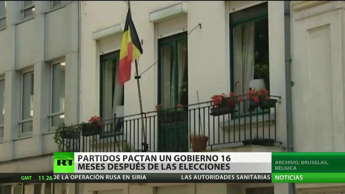 Bélgica: Una coalición de 7 partidos pacta un gobierno 16 meses después de las elecciones