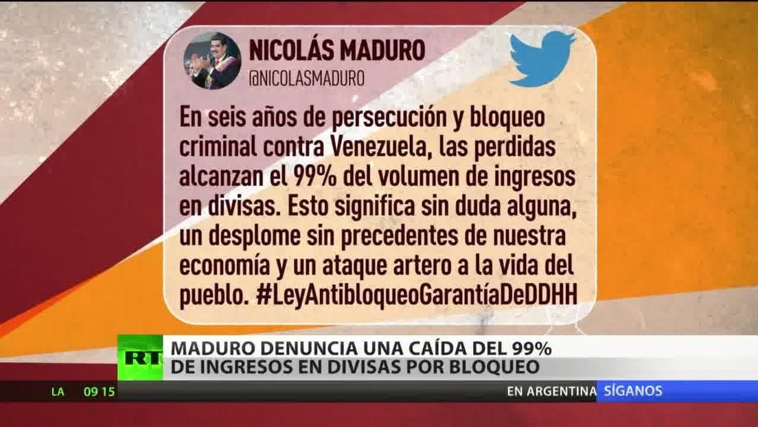 Maduro denuncia una caída del 99 % de ingresos en divisas por las sanciones contra Venezuela