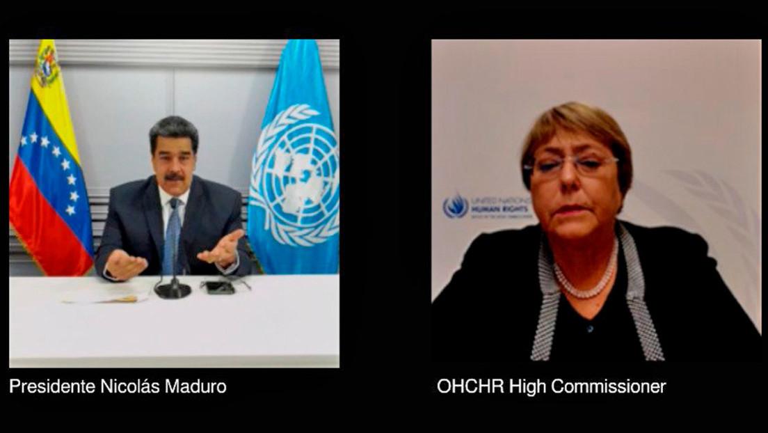 """Maduro sostiene una """"fructífera reunión de trabajo"""" con la Alta Comisionada de DDHH de la ONU, Michelle Bachelet"""