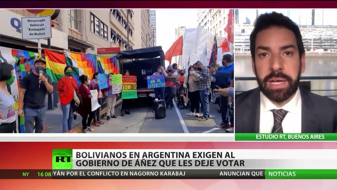 Bolivianos en Argentina exigen que el Gobierno de Áñez les deje votar