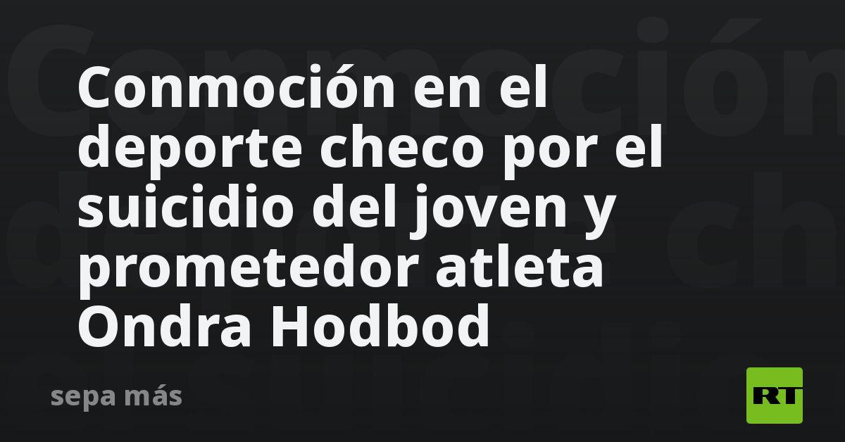 Conmoción en el deporte checo por el suicidio del joven y prometedor atleta Ondra Hodbod thumbnail