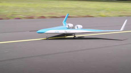 Ingenieros neerlandeses prueban un avión de pasajeros en forma de V