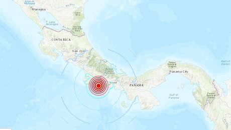 Se produce un sismo de magnitud 5,6 en la frontera entre Panamá y Costa Rica
