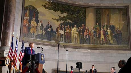 Trump anuncia la creación de la Comisión 1776, que promoverá la educación patriótica