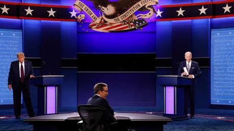 """""""Payaso""""; """"No hay nada inteligente en ti'': Los ataques personales dominan el primer cara a cara de Trump y Biden"""