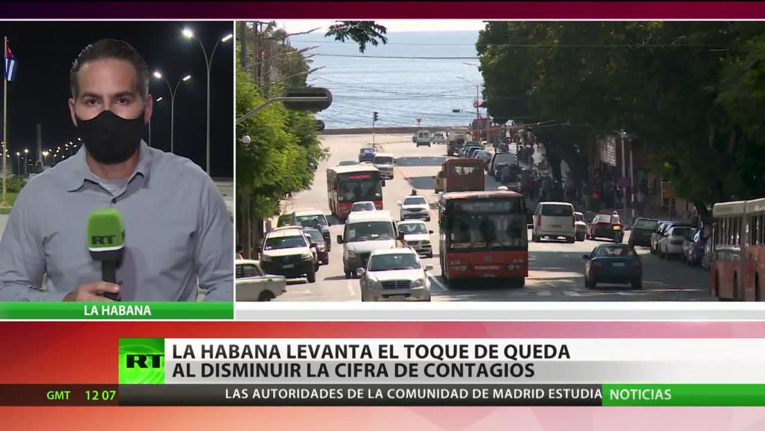 La Habana levanta el toque de queda al disminuir la tasa de contagios
