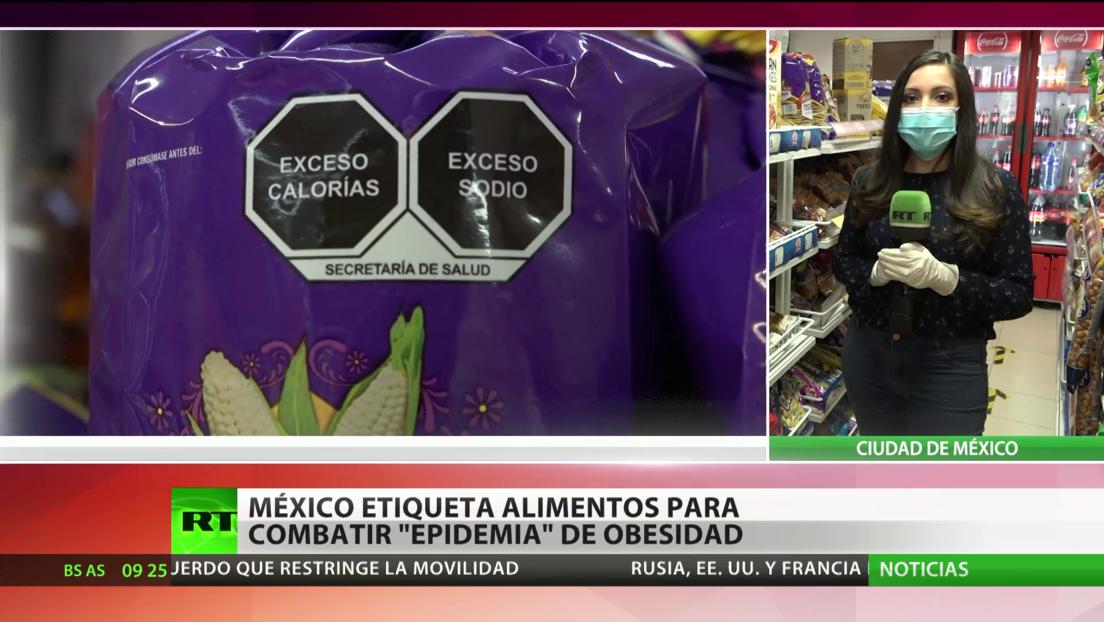 México etiqueta alimentos para combatir una 'epidemia' de obesidad
