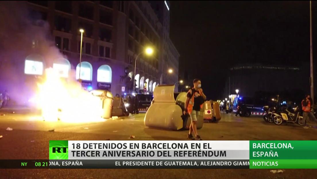 18 detenidos en Barcelona en el tercer aniversario del referéndum del 1-O
