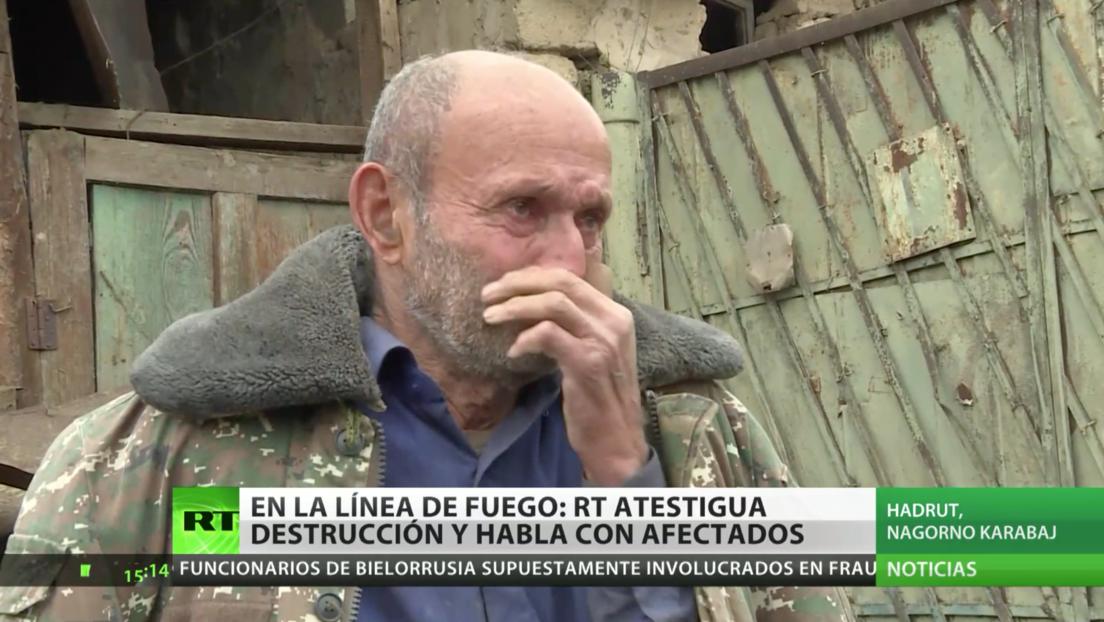 En la línea de fuego: RT es testigo de la angustia de la población en Nagorno Karabaj