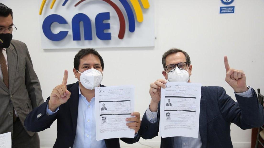 Oficializan en Ecuador la inscripción del binomio Arauz-Rabascall, que competirá por el correísmo en las elecciones de 2021