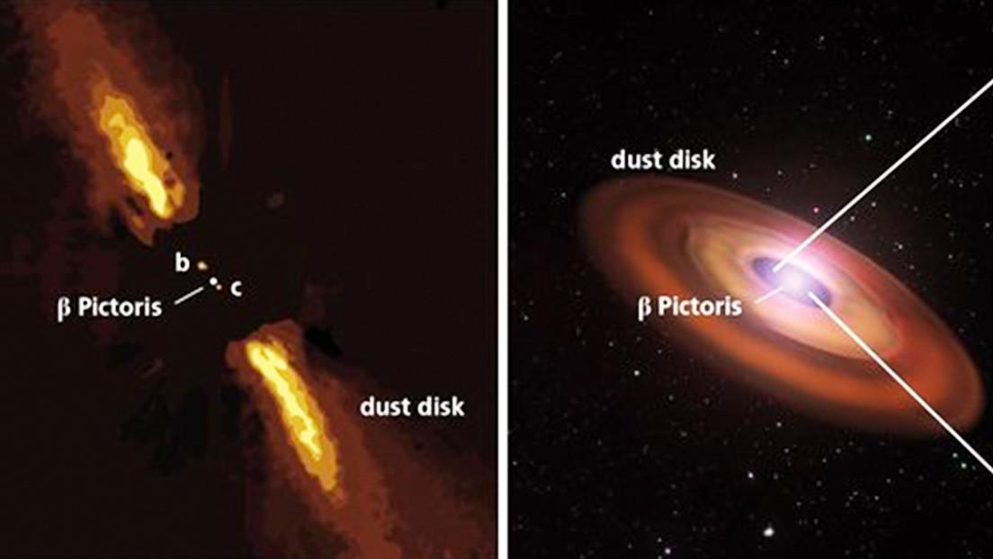 Esta imagen es la primera confirmación directa de la existencia del exoplaneta Pictoris c