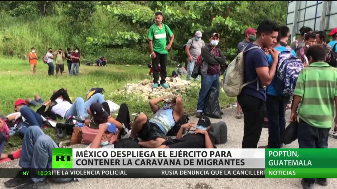México despliega el Ejército para contener la caravana de migrantes hondureños