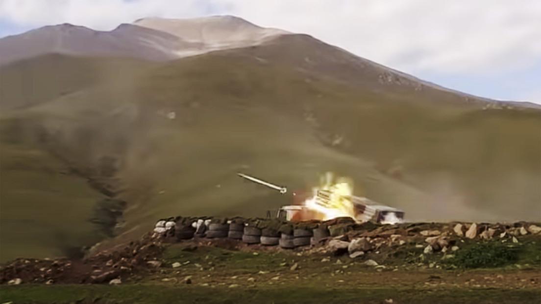 VIDEO: Azerbaiyán vuelve a bombardear la capital de Nagorno Karabaj y suenan las sirenas de ataque aéreo
