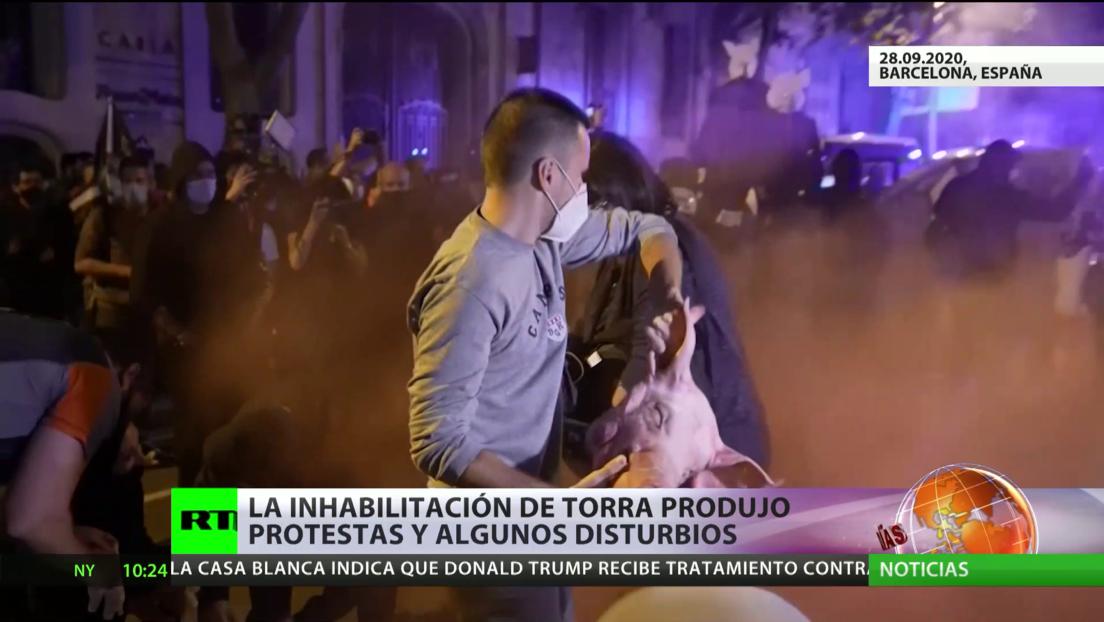 España: La inhabilitación de Quim Torra desata protestas y algunos disturbios en Cataluña