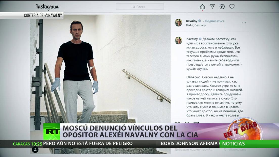 Moscú denuncia vínculos del opositor ruso Alexéi Navalny con la CIA