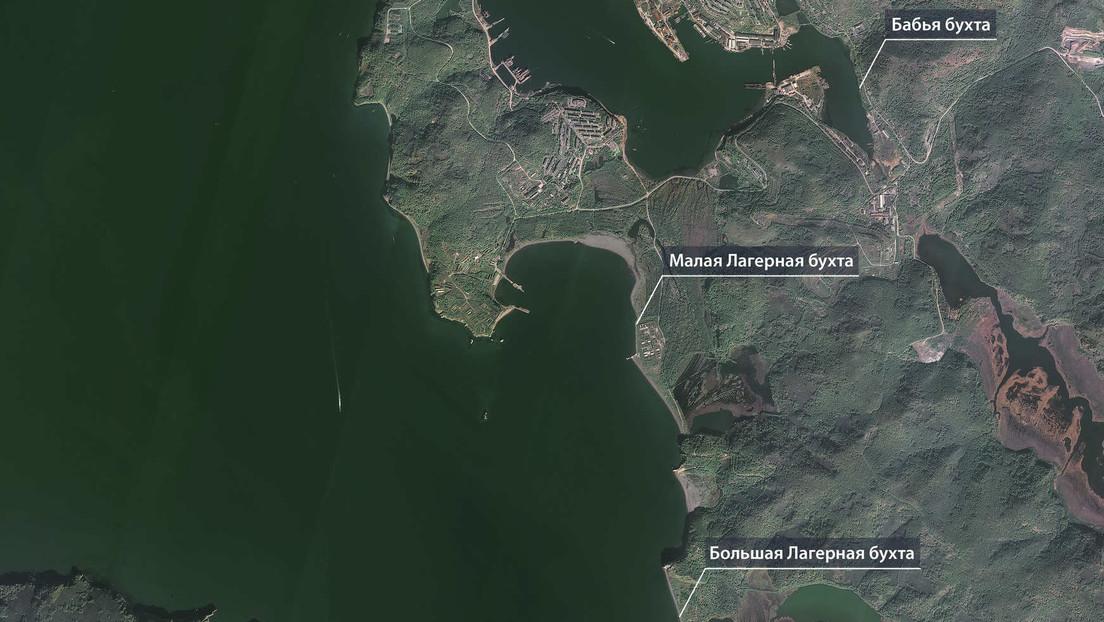 Publican imágenes de satélite de Kamchatka donde varias playas quedaron cubiertas de animales muertos por la contaminación de las aguas del Pacífico