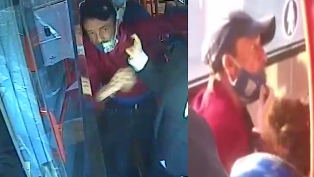 VIDEO: Un hombre patea en la cara a una adolescente por no usar mascarilla en un autobús