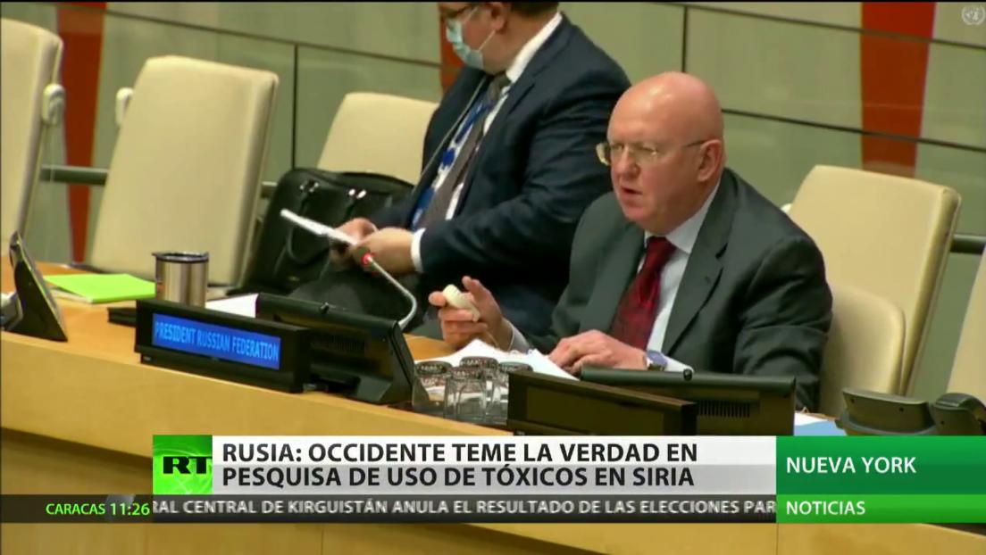 Rusia afirma que Occidente teme la verdad en la pesquisa sobre el uso de armas químicas en Siria