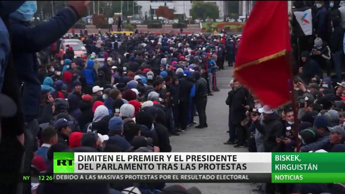 Dimiten el primer ministro y el presidente del Parlamento de Kirguistán tras las protestas