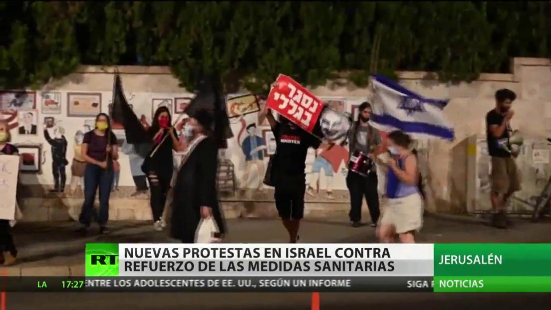 Nuevas protestas en Israel contra el refuerzo de las medidas sanitarias